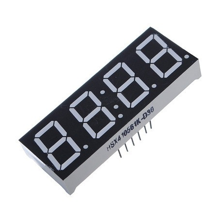 Display Led 7 Segmentos 4 dígitos - Anodo