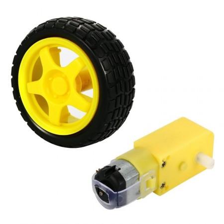 Motor com Caixa de Redução + Roda