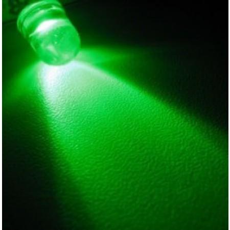 LED 5mm Verde Alto brilho (5 unidades)