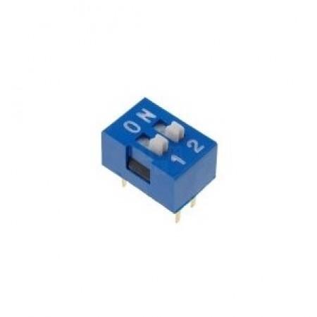 Chave Dip Switch Azul 2 Vias 180º