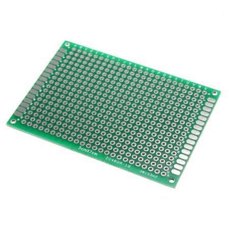 Placa PCB Universal Dupla-face Pré-furada 5x7cm