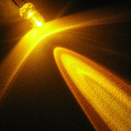 LED 5mm Amarelo Alto brilho (5 unidades)
