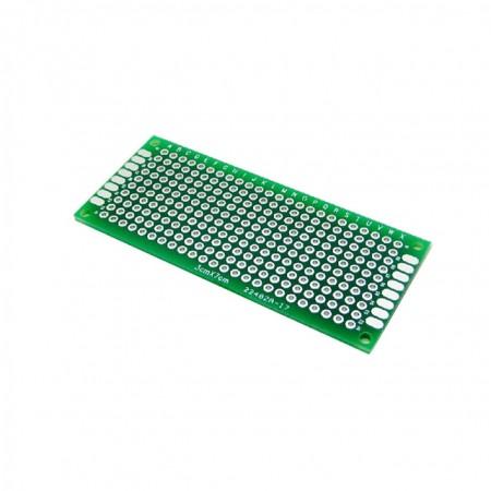 Placa PCB Universal Dupla-face Pré-furada 3x7cm