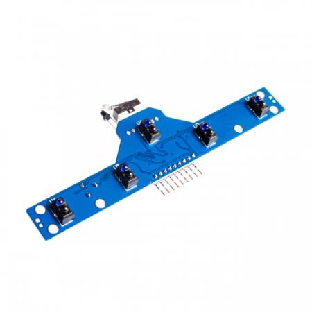 Módulo Sensor IR 5 Canais para Robô Seguidor de Linha TCRT5000