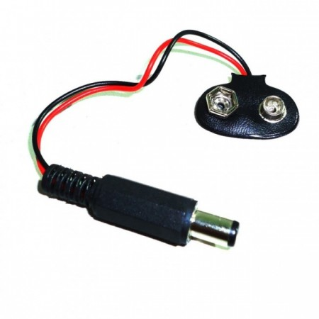 Clip bateria 9V com terminal P4