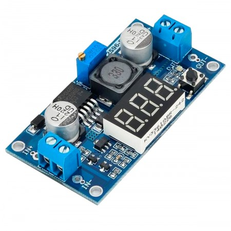 Regulador de Tensão Ajustável LM2596 Step Down DC-DC com Display - 1,25V a 37V