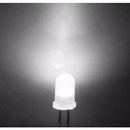 LED 5mm Branco Alto brilho (5 unidades)
