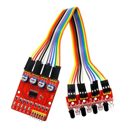 Sensor de Linha Infravermelho 4 Sondas