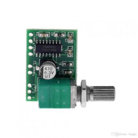 Módulo Amplificador de Áudio PAM8403 com Controle de Volume